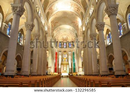 Basilica of Sainte-Anne-de-Beaupre, Quebec, Canada - stock photo