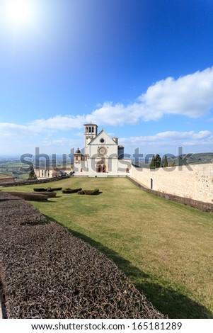Basilica of San Francesco, Assisi, Perugia, Umbria - stock photo