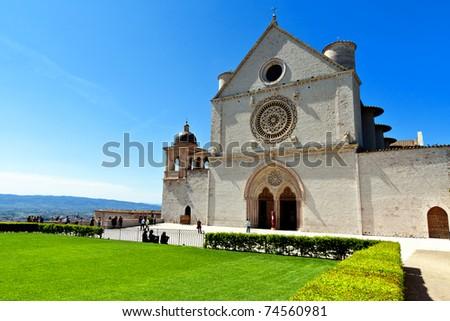 Basilica of San Francesco, Assisi, Umbria - stock photo