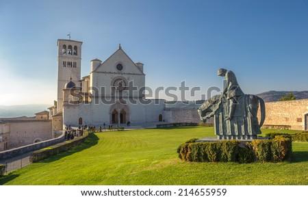 Basilica of San Francesco d�¢??Assisi, Assisi, Italy - stock photo