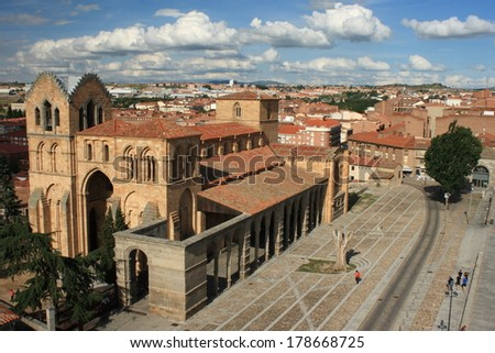 Basilica of San Vicente in Avila - stock photo