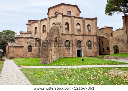 Basilica of San Vitale - antique church in Ravenna, Italy
