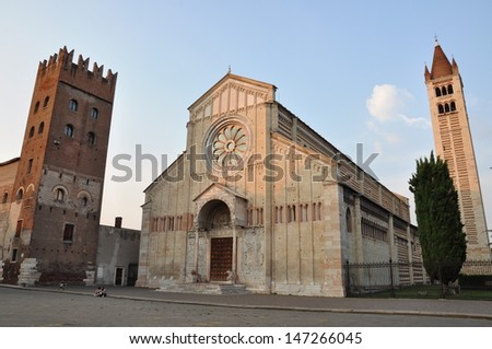 Basilica of San Zeno, Verona  - stock photo