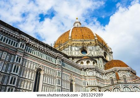 Basilica of Santa Maria del Fiore (Basilica of Saint Mary of the Flower), Florence, Italy  - stock photo