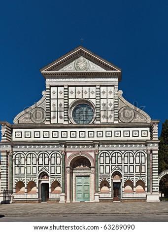 Basilica of Santa Maria Novella, Florence, Tuscany, Italy - stock photo