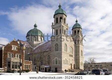 Basilica of St. Adalbert - Grand Rapids, Michigan - stock photo