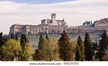 Basilica of St. Francis, Assisi - stock photo