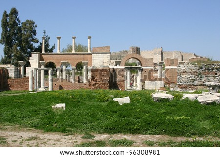Basilica of St. John and the Roman Fortress at Ephesus