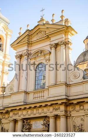 basilica st margaret antiochia santa margherita stock photo royalty