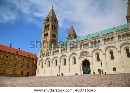 Basilica of St. Peter & St. Paul, Pecs Cathedral in Hungary - stock photo