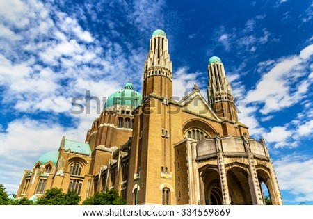 Basilica of the Sacred Heart - Brussels, Belgium - stock photo
