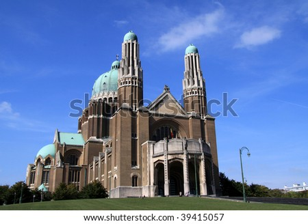 Basilica of the Sacred Heart in Brussels - stock photo