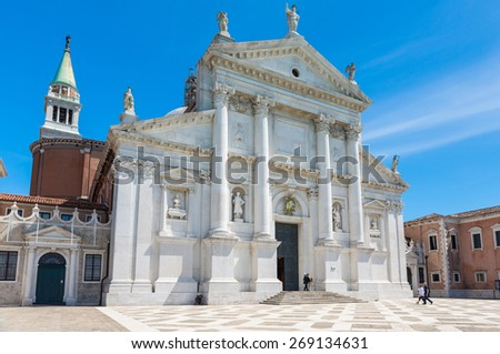 Basilica San Giorgio Maggiore island in Venice, Italy - stock photo