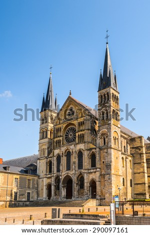 Basilica St. Remi of Rheims,  Champagne-Ardenne, France - stock photo