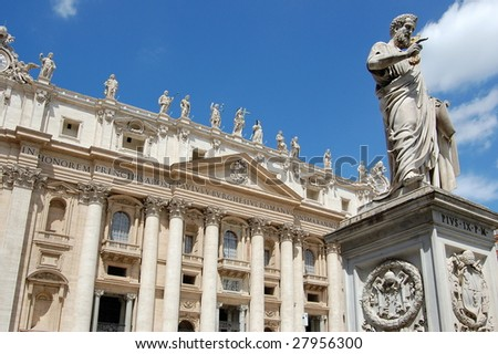 basilica the St. Peter in vatican, Italy - stock photo