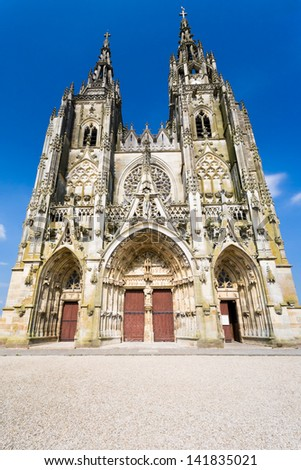 Basilique Notre-Dame de l Epine in Epine in France - stock photo