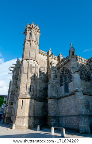 Basilique Saint Nazaire et Saint Celse at Carcassonne in France