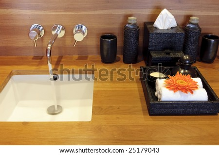 basin and spa set - stock photo
