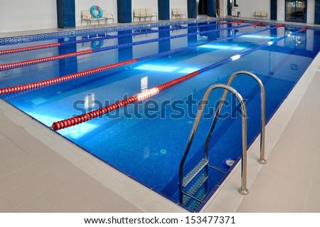 Basin,blue transparent water. - stock photo