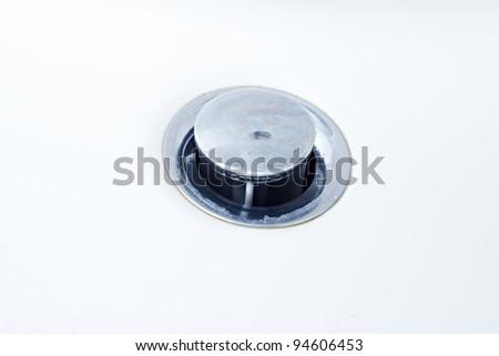 basin with drain - stock photo