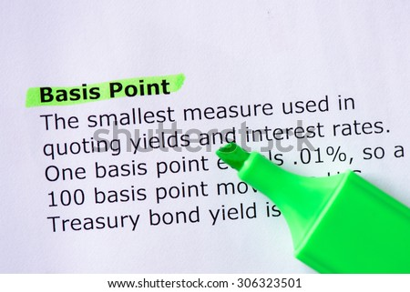 Basis Point  words highlighted on the white background