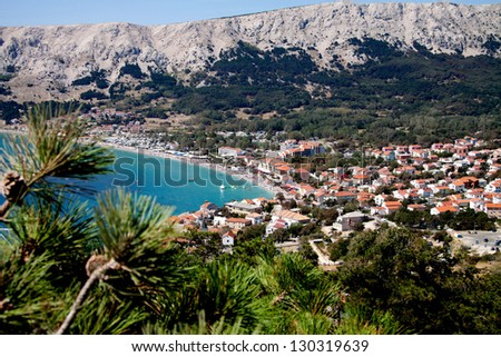 Baska, Krk island, Croatia - stock photo
