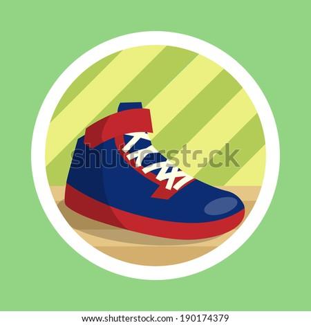 Basket Ball Shoes Illustration - stock photo