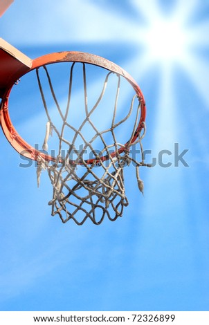 basket ball under the blue sky