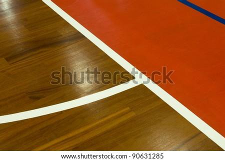 Basket court - stock photo