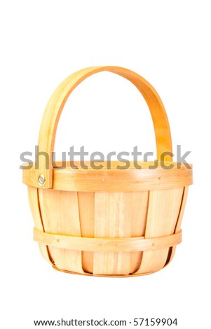 Basket for berries isolated on white