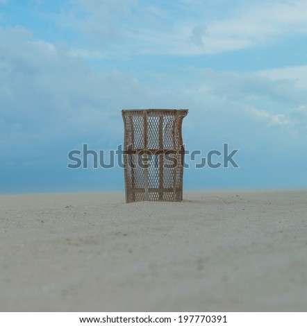 Basket for myachy on a beach.Miami - stock photo