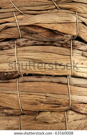basket handcrafted texture macro closeup detail in brown - stock photo