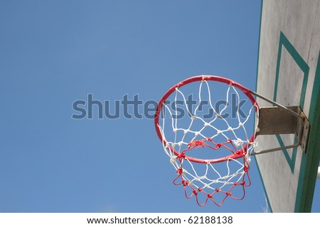 Basket hoop over sky