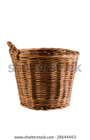 Basket isolated on the white background with the clipping path - stock photo