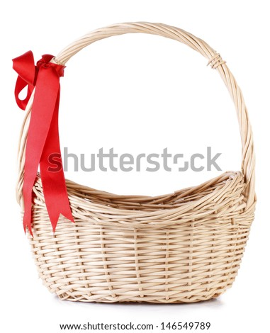 Basket Isolated On White - stock photo