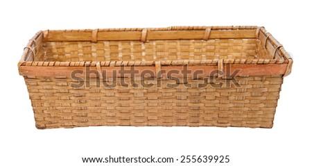 Basket isolated on white background - stock photo