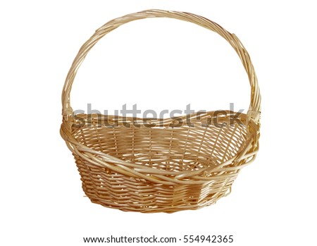 Basket isolated on white background. Clipping path included