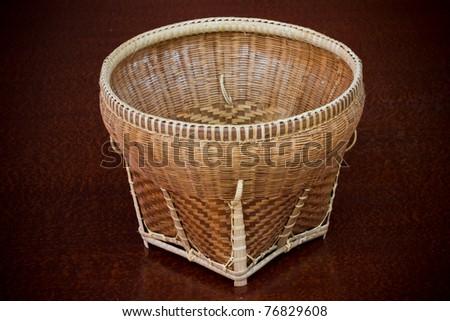 Basket made of bamboo - stock photo