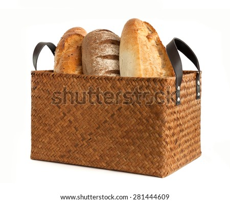 Basket of bread - stock photo