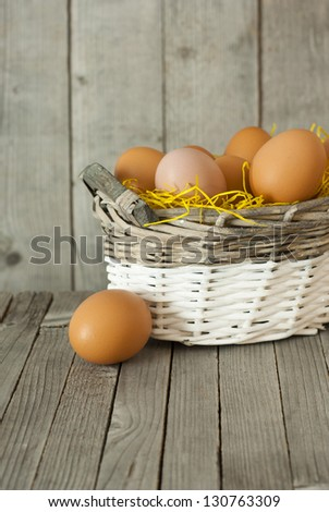 basket of eggs, purity easter decoration