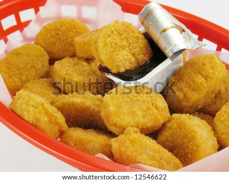 Basket of Nuggets - stock photo