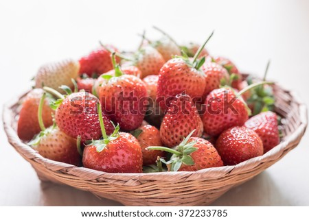 Basket of Strawberries, Close up photo