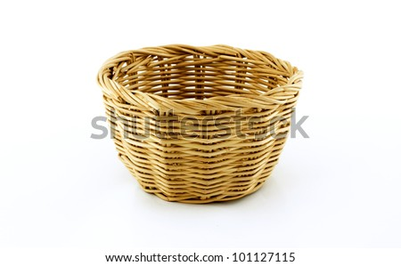 Basket  on white background - stock photo