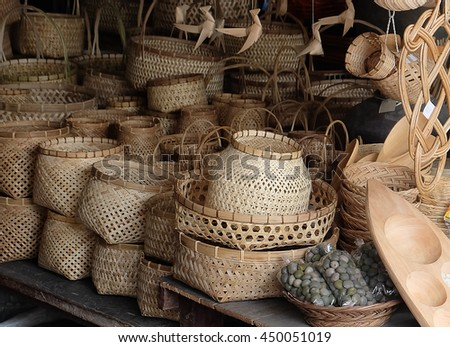 Basket wicker is Thai handmade.