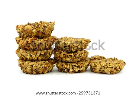basket with seeds (object isolated on white background)