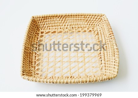 basket wood isolate on white background