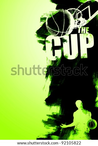 basketball advertising background (magazine, web, poster, flyer...) - stock photo