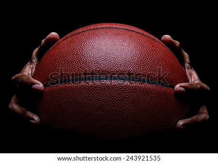 Basketball and Hand Dribbling - stock photo
