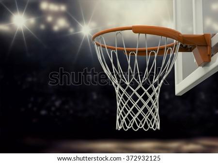 Basketball arena - stock photo