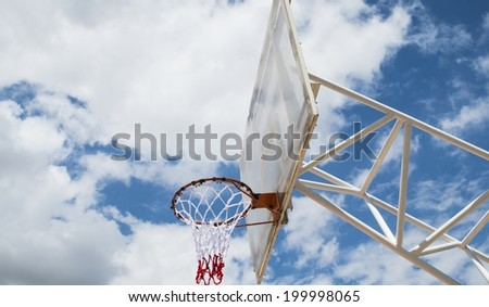 Basketball backboard - stock photo